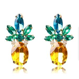 Jewelry - Sparkling Pineapple Rhinestone Crystal Earrings